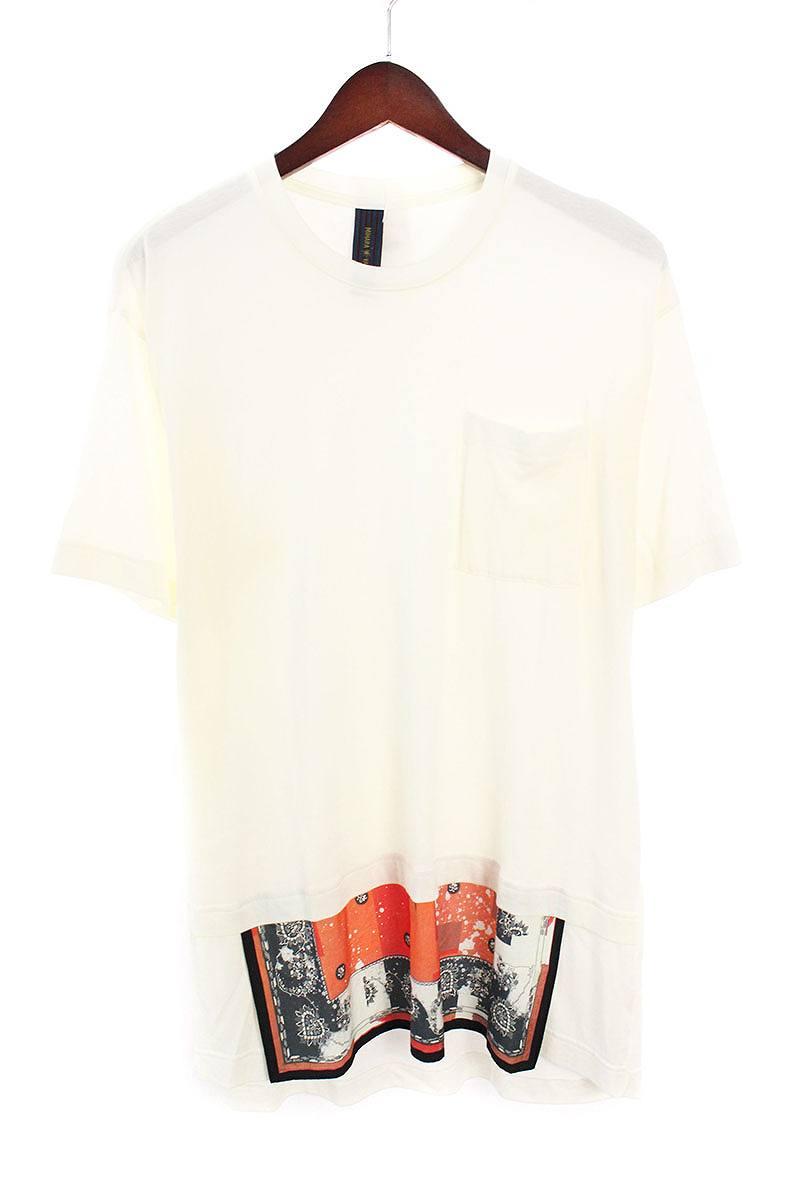 ミハラヤスヒロ/MIHARAYASUHIRO バンダナレイヤードデザインTシャツ(44/ホワイト)【BS99】【メンズ】【107081】【中古】bb33#rinkan*B