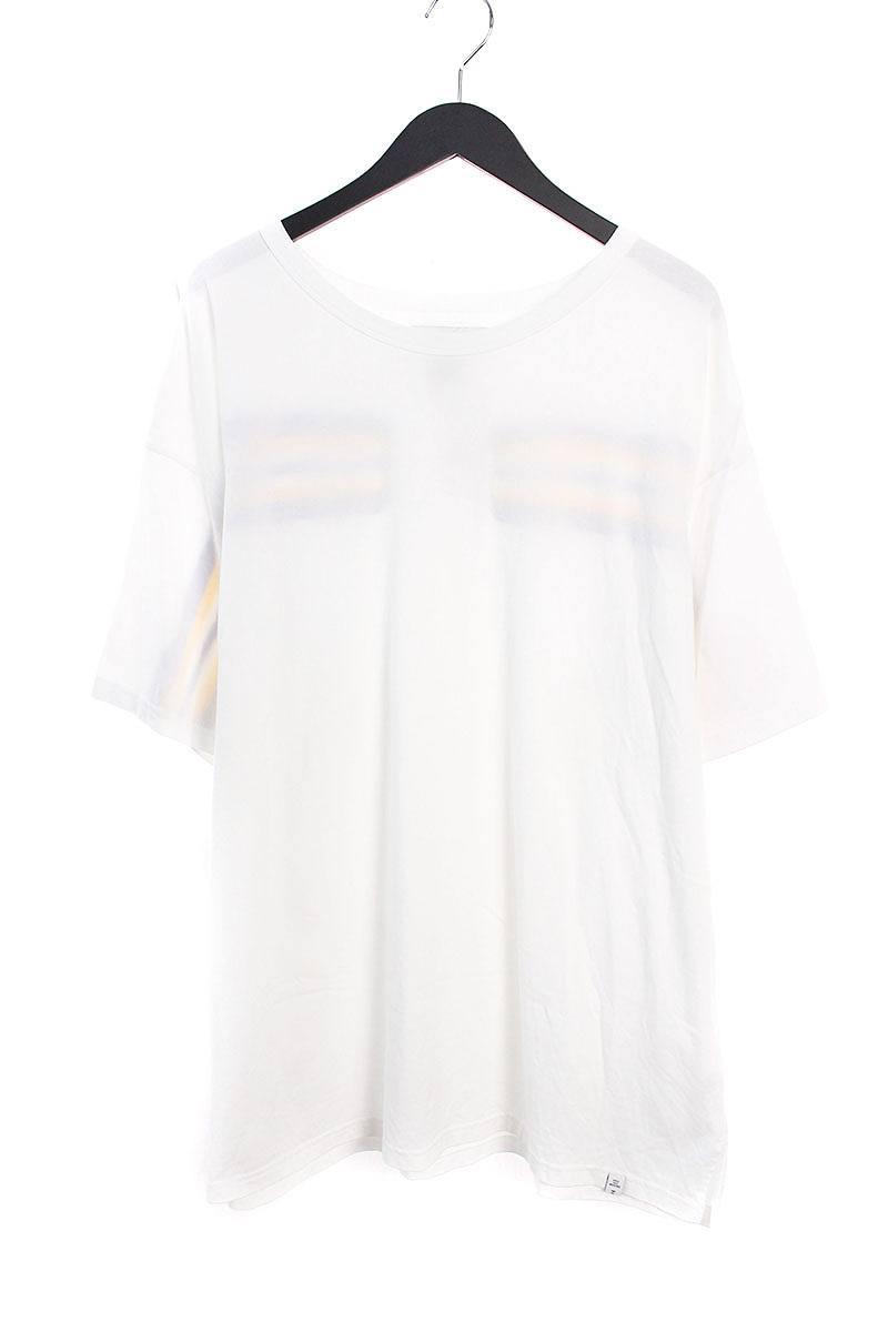 ファセッタズム/FACETASM 【17SS】【CHG-TEE-U17】バックラインTシャツ(00/ホワイト×イエロー)【BS99】【メンズ】【107081】【中古】bb229#rinkan*B