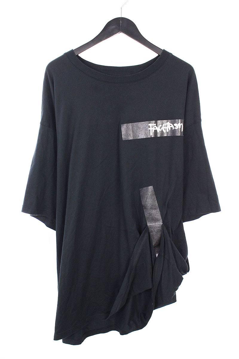 ファセッタズム/FACETASM 【18SS】テープデザインビッグTシャツ(00/ブラック)【BS99】【メンズ】【107081】【中古】bb229#rinkan*B