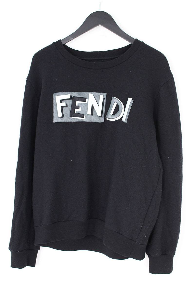 フェンディ/FENDI フロントロゴ刺繍ウールスウェット(52/ブラック)【BS99】【メンズ】【107081】【中古】bb183#rinkan*B