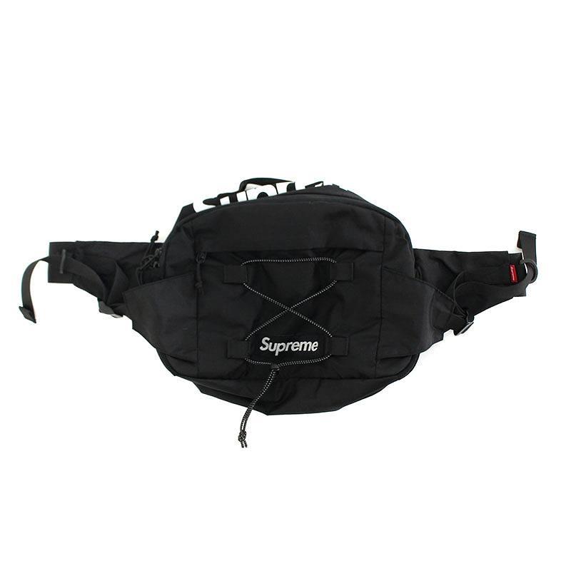 シュプリーム/SUPREME 【17SS】【Waist Bag 210D Cordura】ボックスロゴウエストバッグ(ブラック)【NO05】【小物】【726081】【中古】【準新入荷】bb30#rinkan*A