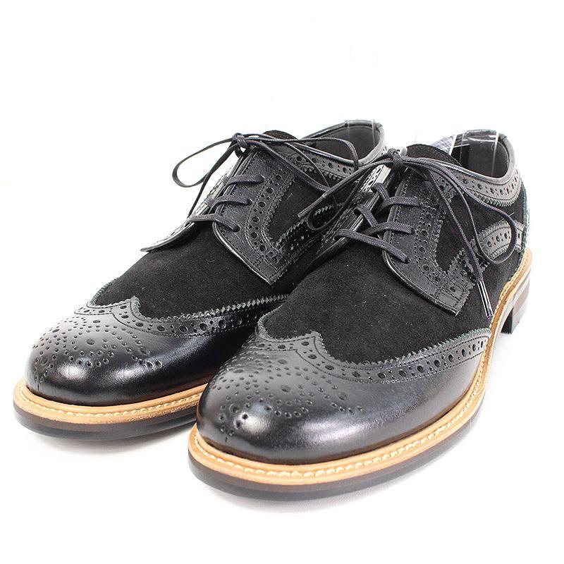 グラム/glamb 【GB16AT-SU09 Benny shoes】スエード切替メダリオンシューズ(1/ブラック)【BS99】【メンズ】【小物】【407081】【中古】bb14#rinkan*S
