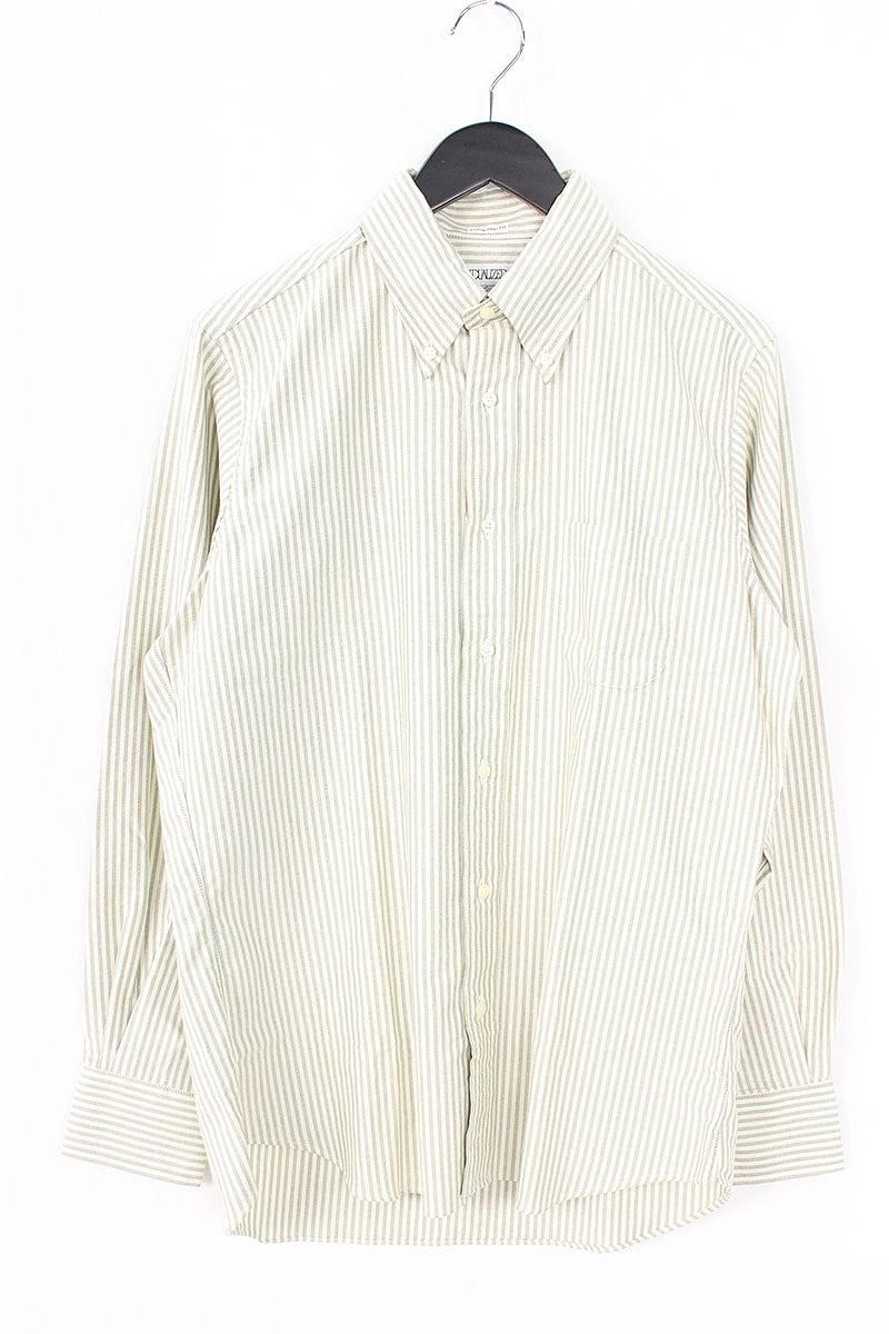 インディビジュアライズドシャツ/INDIVIDUALIZED SHIRTS 【standard fit】ストライプ柄BD長袖シャツ(15 1/2/グレー×オフホワイト)【BS99】【メンズ】【107081】【中古】bb15#rinkan*A