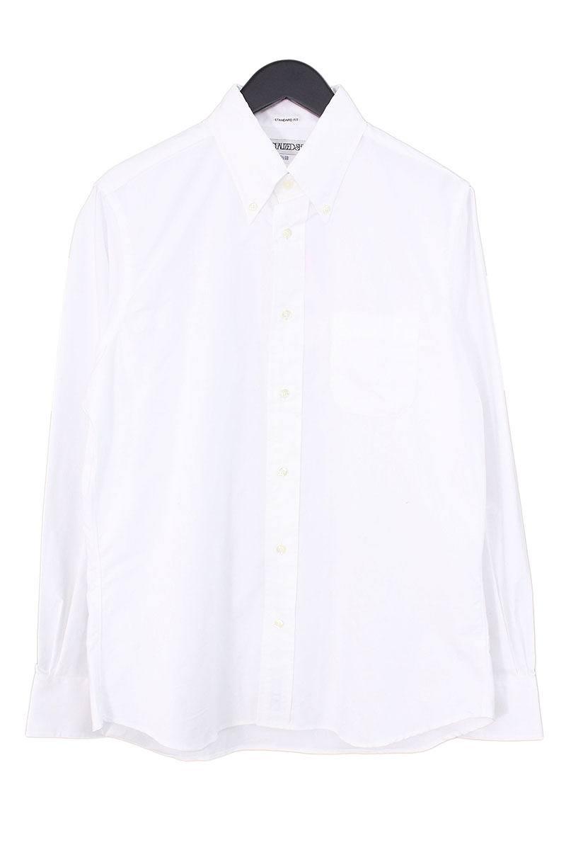 インディビジュアライズドシャツ/INDIVIDUALIZED SHIRTS 【standard fit】プレーンBD長袖シャツ(15 1/2/ホワイト)【BS99】【メンズ】【107081】【中古】bb15#rinkan*A