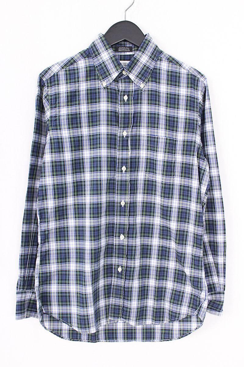 インディビジュアライズドシャツ/INDIVIDUALIZED SHIRTS チェック長袖シャツ(15/グリーン×ネイビー)【BS99】【メンズ】【107081】【中古】bb15#rinkan*B