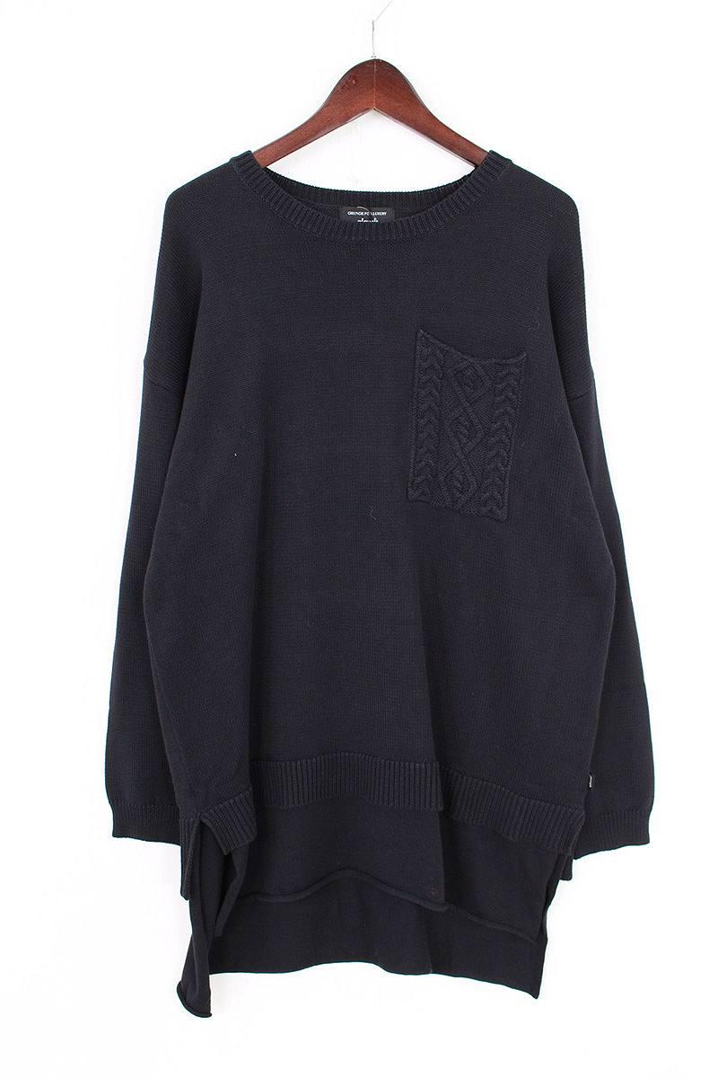 グラム/glamb 【17SS】【GB17SP / KNT09 Hadson layered knit】ハドソンレイヤードニット(1/ブラック)【BS99】【メンズ】【107081】【中古】bb14#rinkan*S