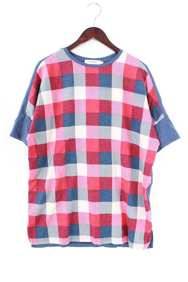 ノンネイティブ/nonnative 【17SS】【NN-C3110 NEL BLOCK CHECK PRINT】チェック柄Tシャツ(1/レッド×ネイビー)【BS99】【メンズ】【107081】【中古】bb15#rinkan*B