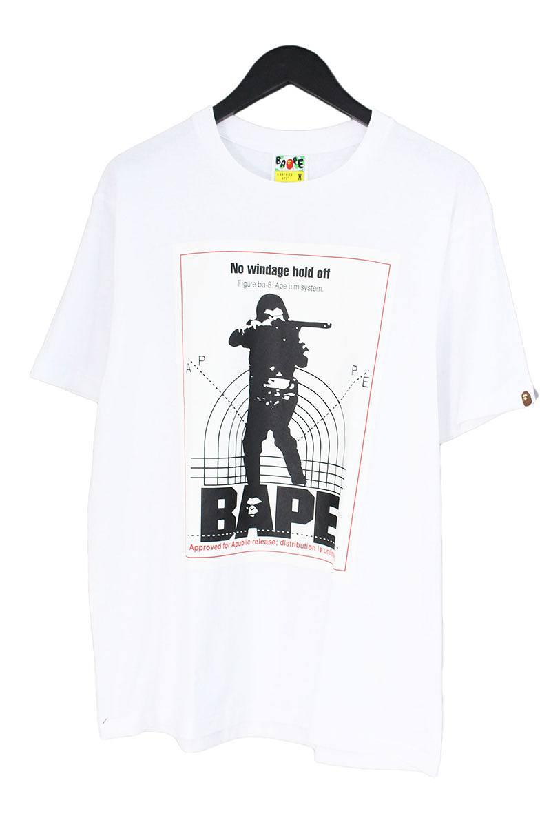 アベイシングエイプ/A BATHING APE 【TARGET TEE K】ターゲットプリントTシャツ(M/ホワイト)【OM10】【メンズ】【726081】【中古】【準新入荷】bb15#rinkan*A
