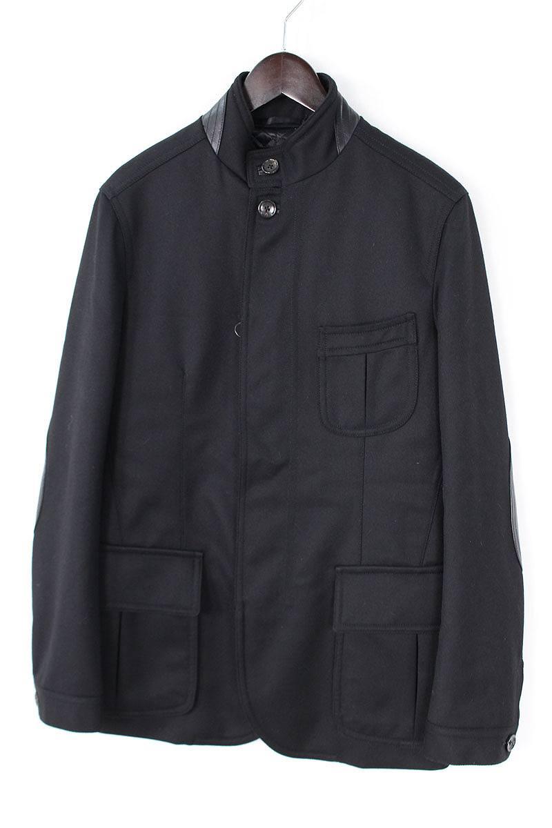 トムフォード/TOMFORD レザー切替ジップアップ中綿入りジャケット(48/ブラック)【BS99】【メンズ】【107081】【中古】bb82#rinkan*A