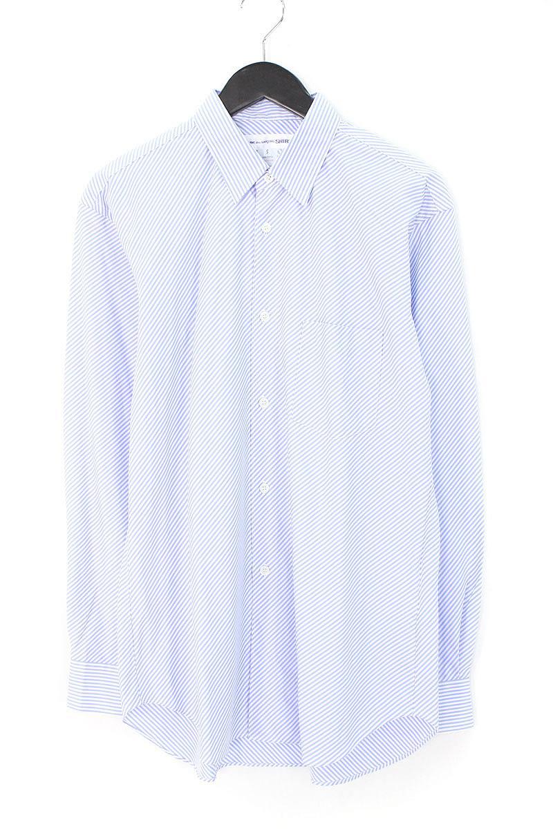 コムデギャルソンシャツ/COMME des GARCONS SHIRT 【CDGS2BS】レジメンタルストライプ長袖シャツ(S/ブルー×ホワイト)【BS99】【メンズ】【107081】【中古】bb82#rinkan*A