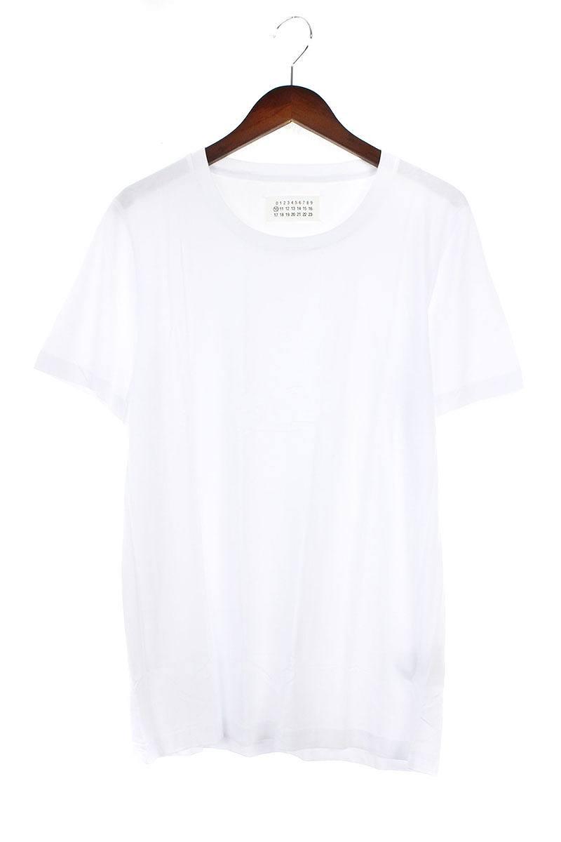 マルタンマルジェラ/Maison Martin Margiela 【16SS】クルーネックTシャツ(S/ホワイト)【BS99】【メンズ】【107081】【中古】bb82#rinkan*A