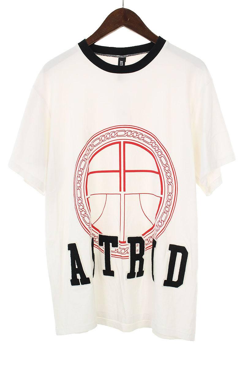 アストリッドアンデルセン/Astrid Andersen  バスケットボールプリントリンガーTシャツ(M/ホワイト)【BS99】【メンズ】【107081】【中古】bb226#rinkan*B