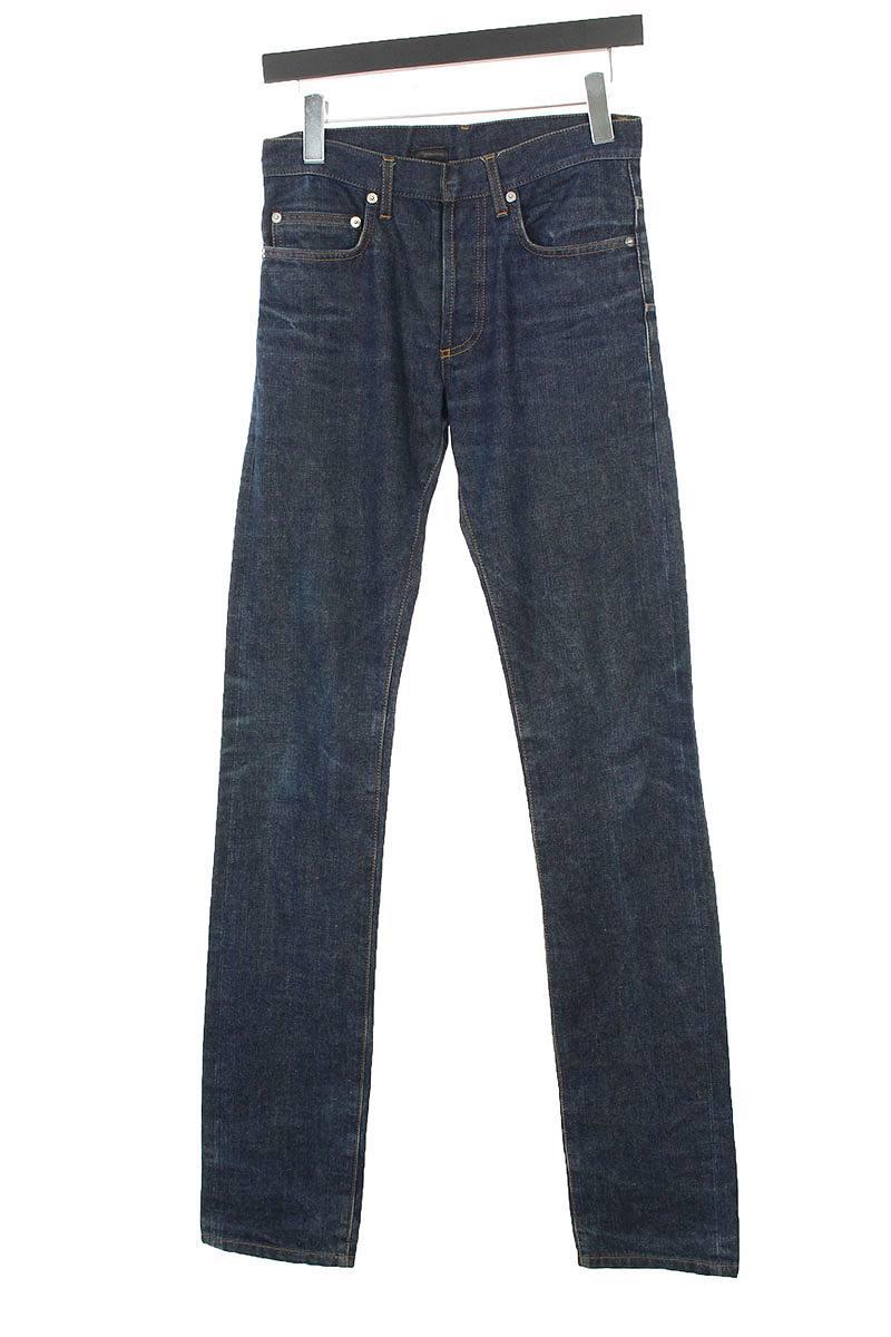 ディオールオム/Dior HOMME ストレートボタンフライデニムパンツ(27インチ/インディゴ)【BS99】【メンズ】【107081】【中古】bb87#rinkan*B