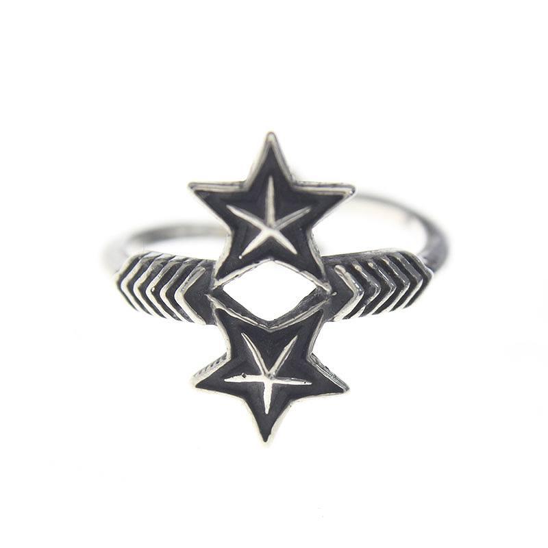 コディーサンダーソン/CODY SANDERSON 【Double Arrow Double Small Star Ring】ダブルアローダブルスモールスターリング(10号/シルバー/2.91g)【NO05】【小物】【726081】【中古】【準新入荷】bb147#rinkan*B