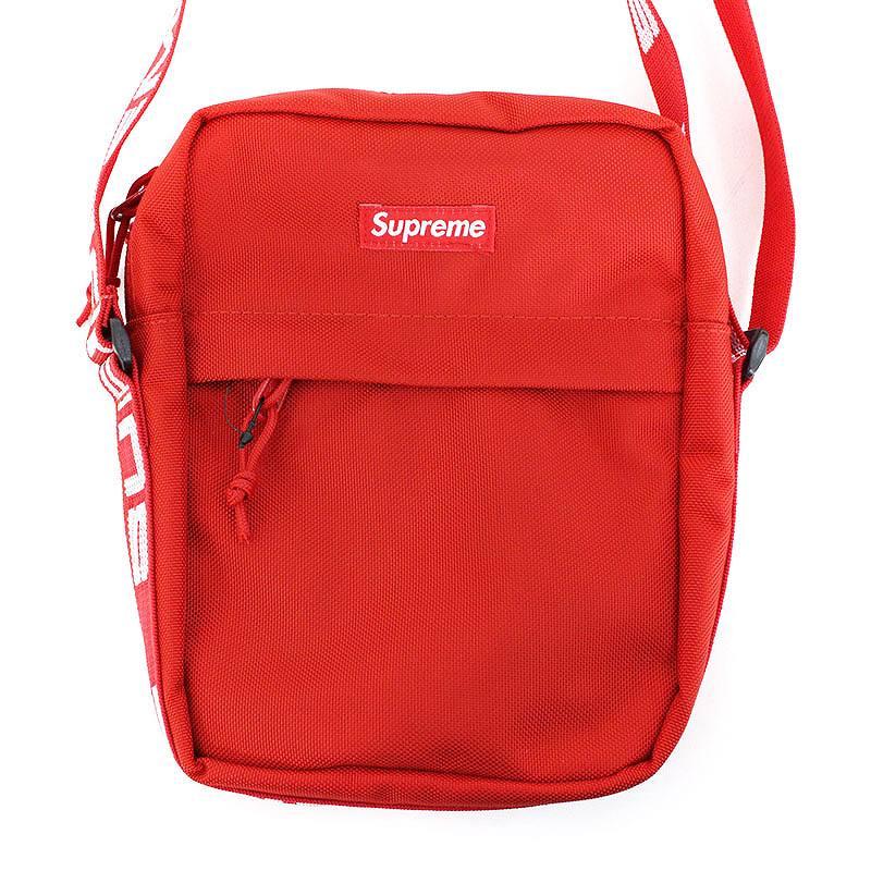シュプリーム/SUPREME 【18SS】【Shoulder Bag】ボックスロゴナイロンショルダーバッグ(レッド)【HJ12】【小物】【726081】【中古】bb131#rinkan*S
