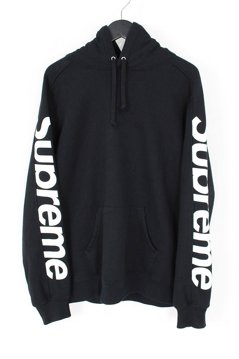 シュプリーム/SUPREME 【18SS】【Sideline Hooded Sweatshirt】サイドラインプルオーバーパーカー(M/ブラック)【SJ02】【メンズ】【307081】【中古】bb13#rinkan*B