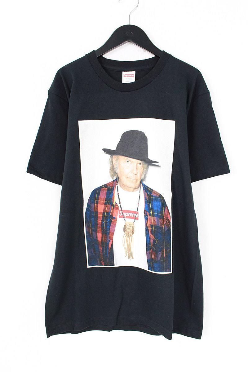 シュプリーム/SUPREME 【15SS】【Neil Young Tee】ニールヤングフォトプリントTシャツ(M/ブラック)【SJ02】【メンズ】【307081】【中古】【P】bb51#rinkan*S