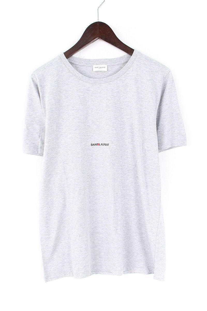 サンローランパリ/SAINT LAURENT PARIS 【17SS】【464572】クラシックロゴTシャツ(S/グレー)【SB01】【メンズ】【907081】【中古】bb14#rinkan*A