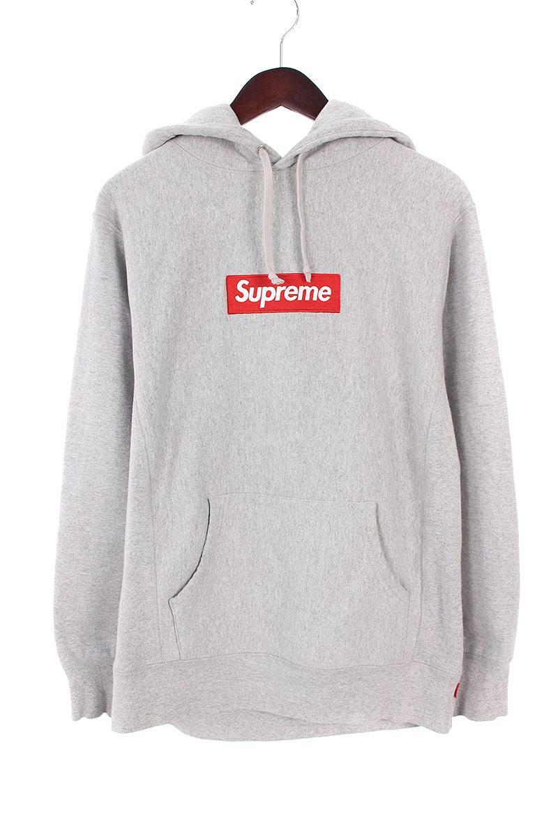 シュプリーム/SUPREME 【16AW】【Box Logo Hooded Sweatshirt】ボックスロゴプルオーバーパーカー(M/グレー)【OM10】【メンズ】【017081】【中古】bb14#rinkan*B