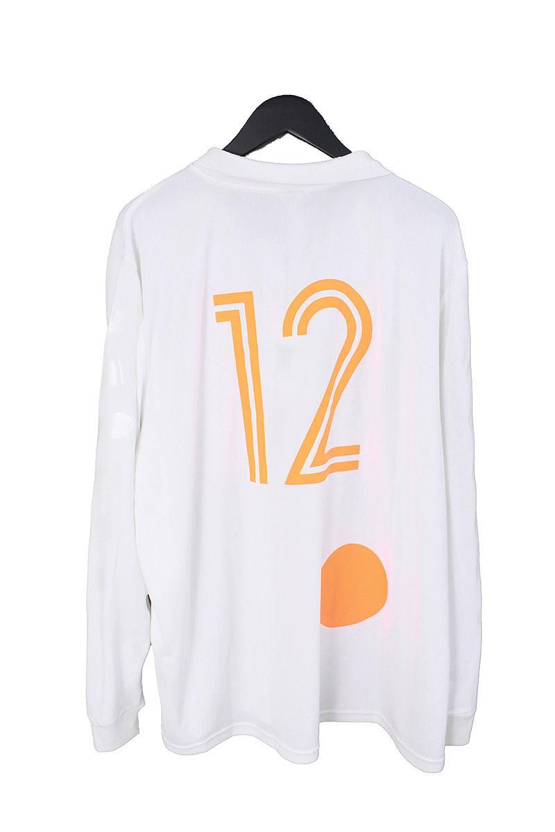 070ee9e0 ... Nike /NIKE X off-white /OFF-WHITE logo print home soccer jersey ...