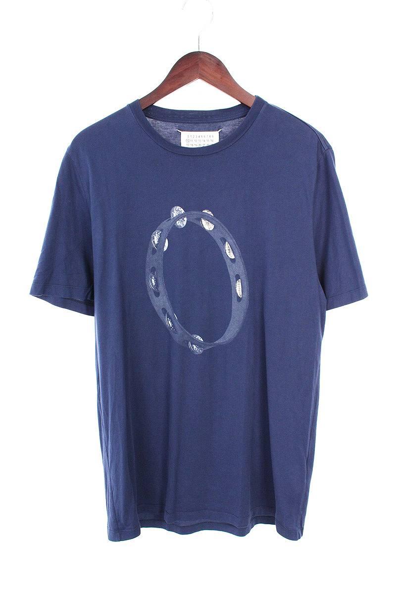 マルタンマルジェラ/Maison Martin Margiela 【16AW】フロントプリントTシャツ(50/ネイビー)【SB01】【メンズ】【017081】【中古】bb212#rinkan*A
