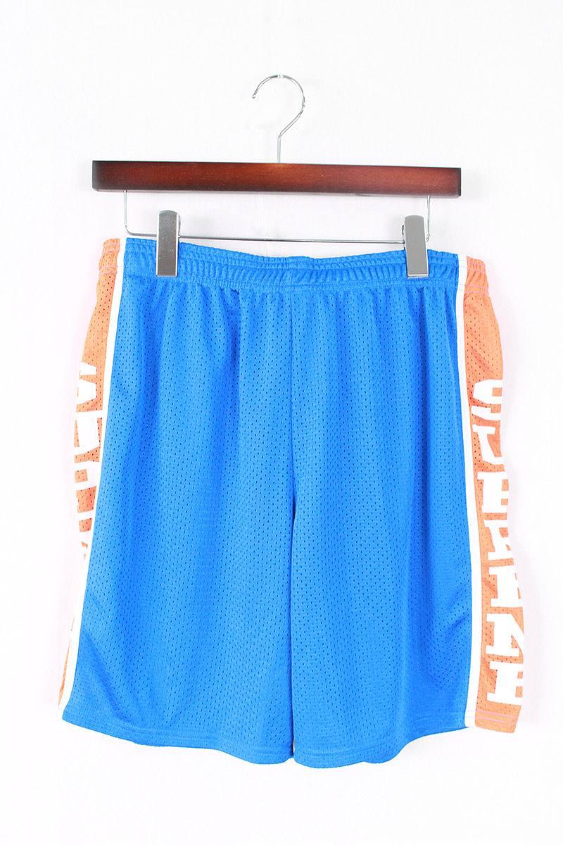 シュプリーム/SUPREME 【14SS】【Basketball Shorts】メッシュサイドロゴショートパンツ(S/ブルー×オレンジ)【HJ12】【メンズ】【017081】【中古】bb33#rinkan*A