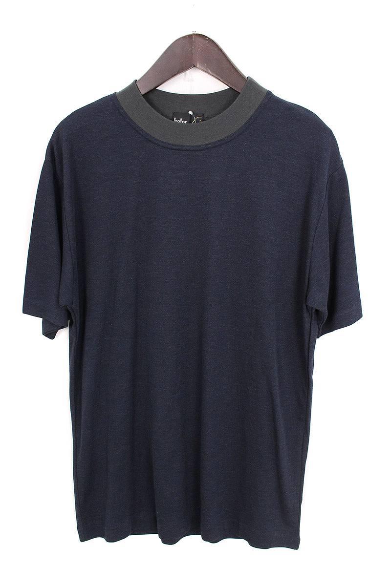 カラー/KOLOR 【16SS】カラー切替オーバーサイズドTシャツ(2/ネイビー×グレー)【BS99】【メンズ】【917081】【中古】【準新入荷】bb18#rinkan*A