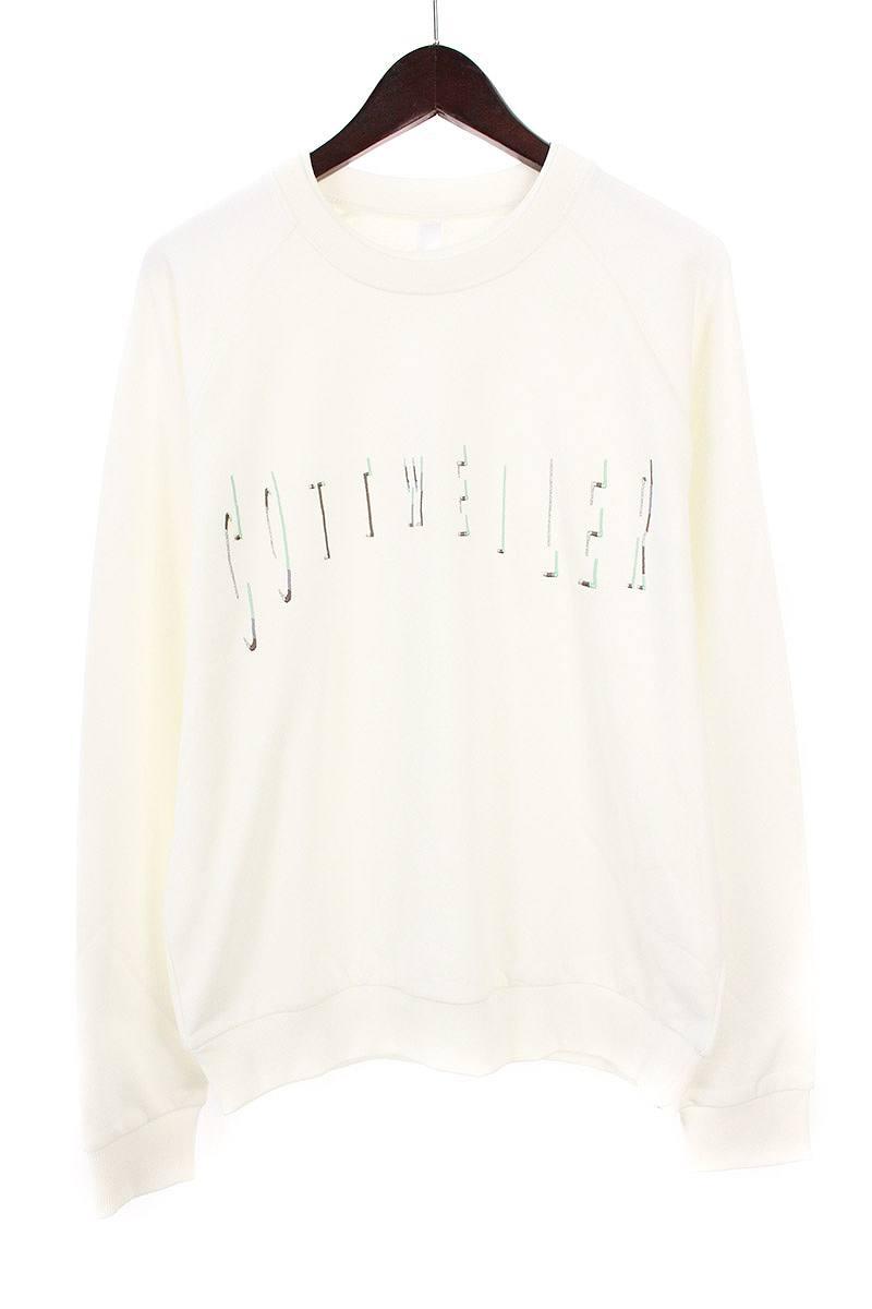 コットワイラー/COTTWEILER 【18SS】ロゴ刺繍クルーネックスウェット(L/ホワイト)【SB01】【メンズ】【917081】【中古】bb131#rinkan*S