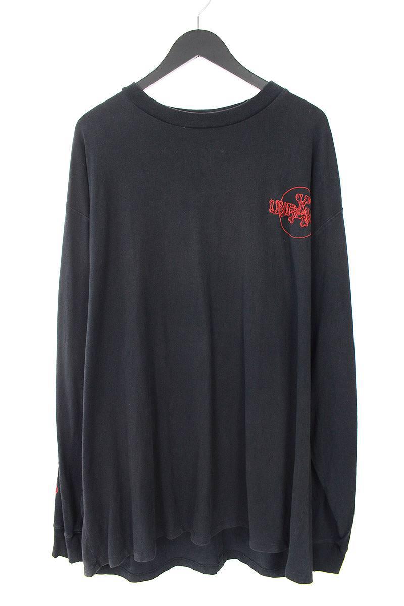 アンレーベルプロジェクト/UNRAVEL PROJECT ロゴ刺繍長袖カットソー(M/ブラック×レッド)【HJ12】【メンズ】【327081】【中古】bb131#rinkan*B