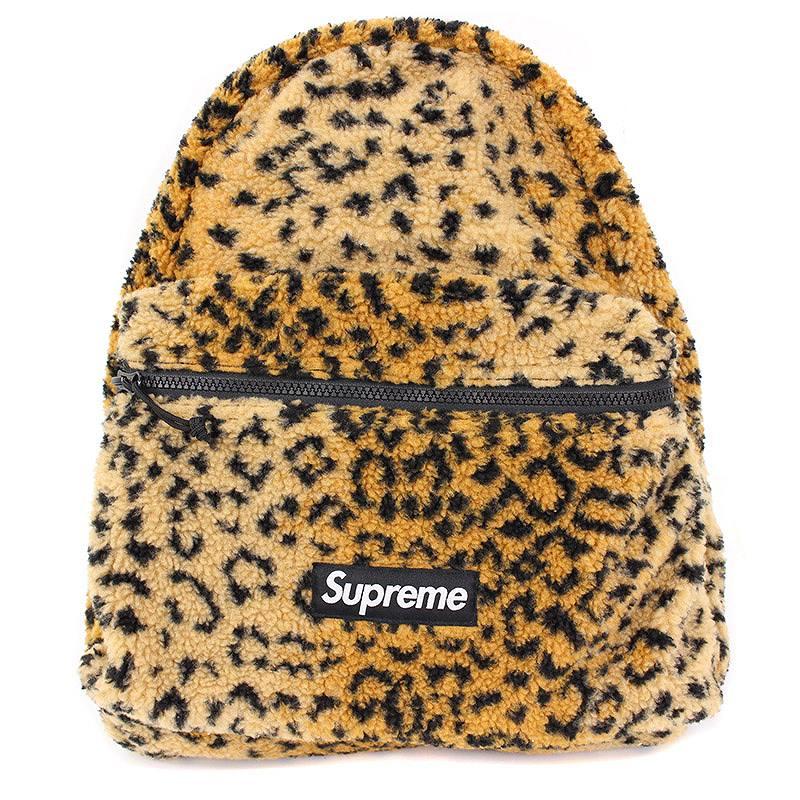 シュプリーム/SUPREME 【17AW】【Leopard Fleece Backpack】レオパードフリースバックパック(ブラウン×ブラック)【OM10】【小物】【527081】【中古】bb10#rinkan*B