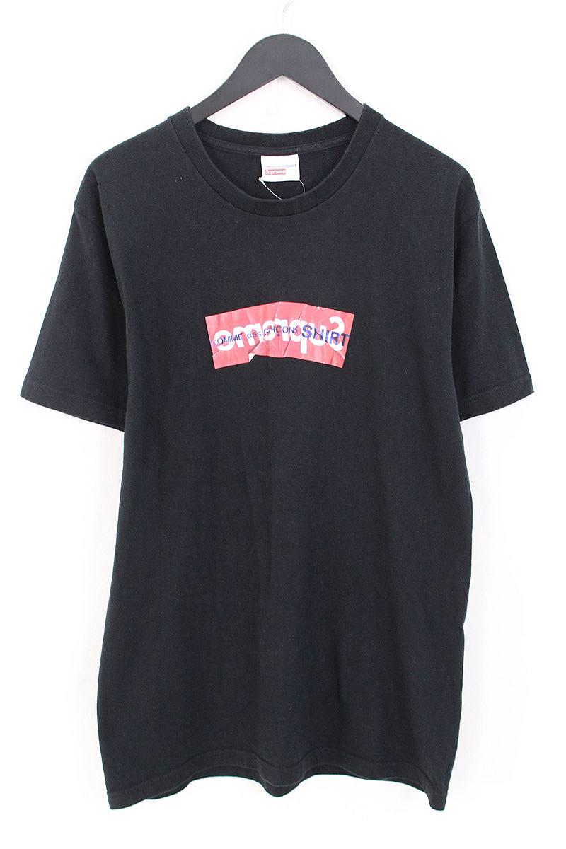 シュプリーム/SUPREME ×コムデギャルソンシャツ/COMME des GARCONS SHIRT 【17SS】【Box Logo Tee】ペーパーアートボックスロゴTシャツ(L/ブラック)【SB01】【メンズ】【527081】【中古】bb212#rinkan*C
