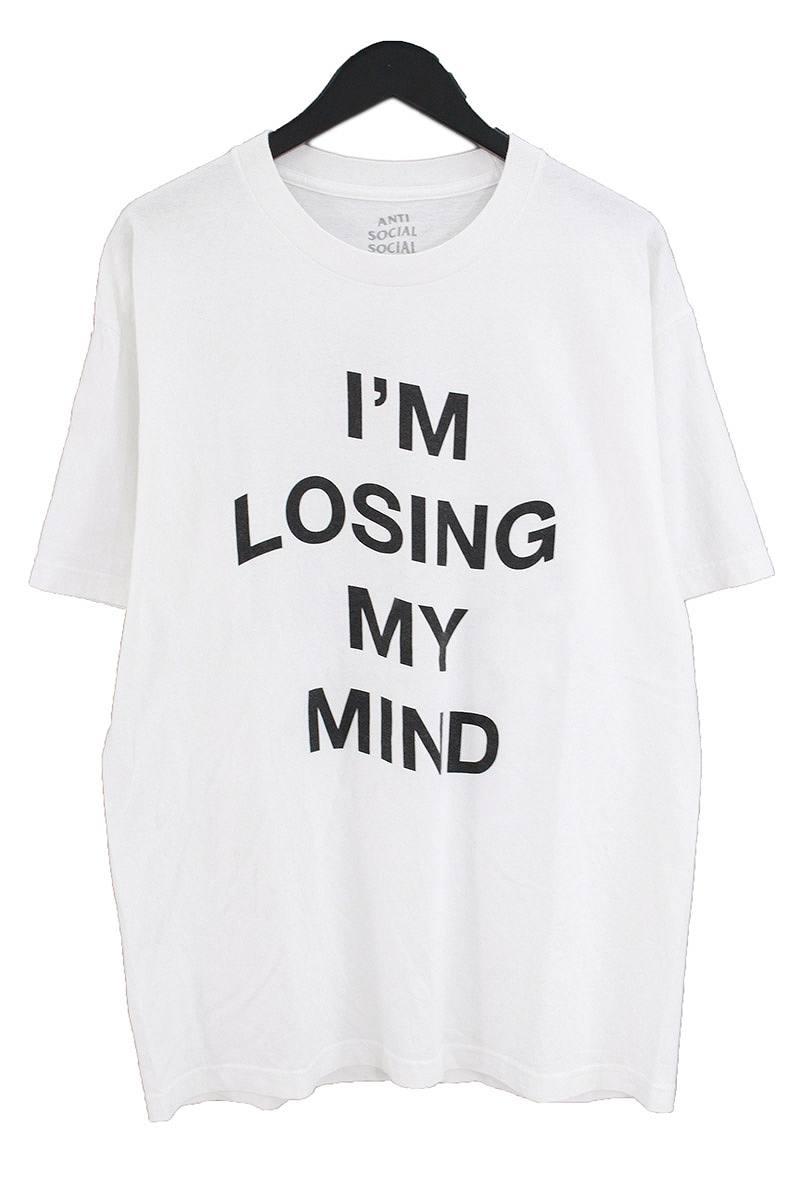 アンチソーシャルソーシャルクラブ/ANTI SOCIAL SOCIAL CLUB IM LOSING MY MIND プリントTシャツ(L/ホワイト)【HJ12】【メンズ】【527081】【中古】bb127#rinkan*B