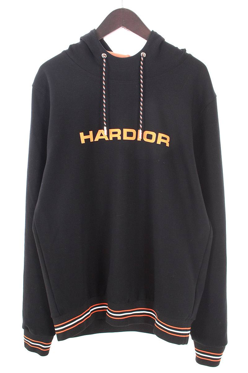 ディオールオム/Dior HOMME 【17AW】【733J632I1008】HARDIORリブラインプルオーバーパーカー(L/ブラック×オレンジ)【SB01】【メンズ】【527081】【中古】【準新入荷】bb147#rinkan*B