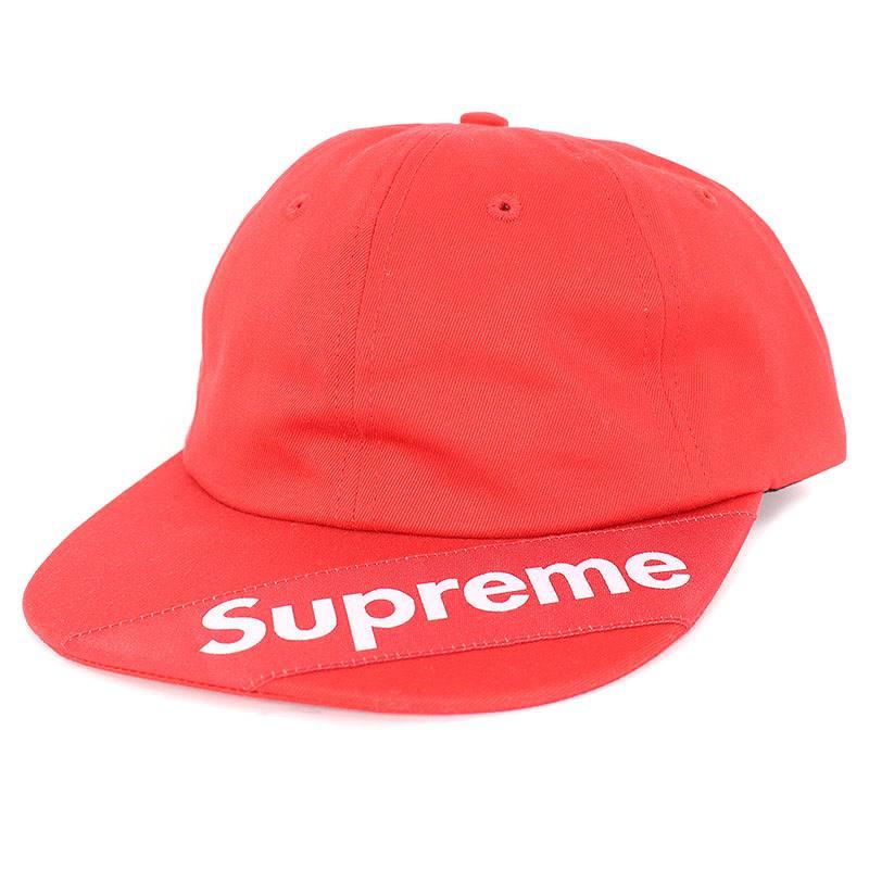 シュプリーム/SUPREME 【18SS】【Visor Label 6-Panel】バイザーロゴ6パネル帽子(レッド)【SJ02】【小物】【527081】【中古】【P】bb202#rinkan*S