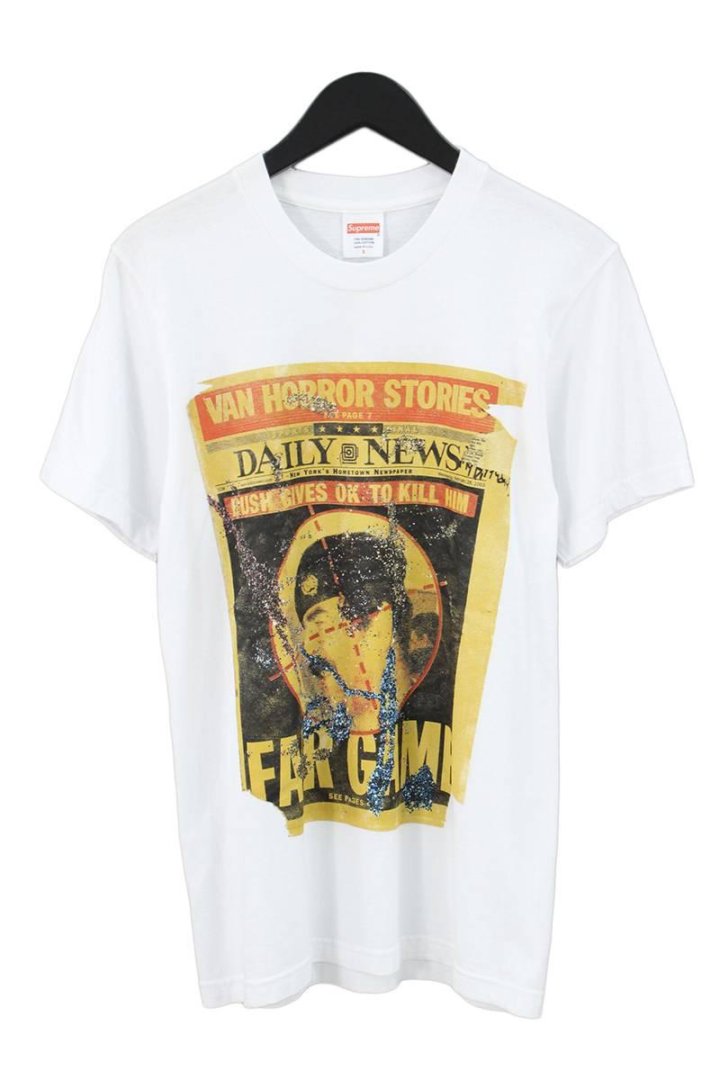 シュプリーム/SUPREME 【16AW】【Dash Snow Tee】ダッシュスノウプリントTシャツ(S/ホワイト)【OS06】【メンズ】【927081】【中古】【準新入荷】bb205#rinkan*B