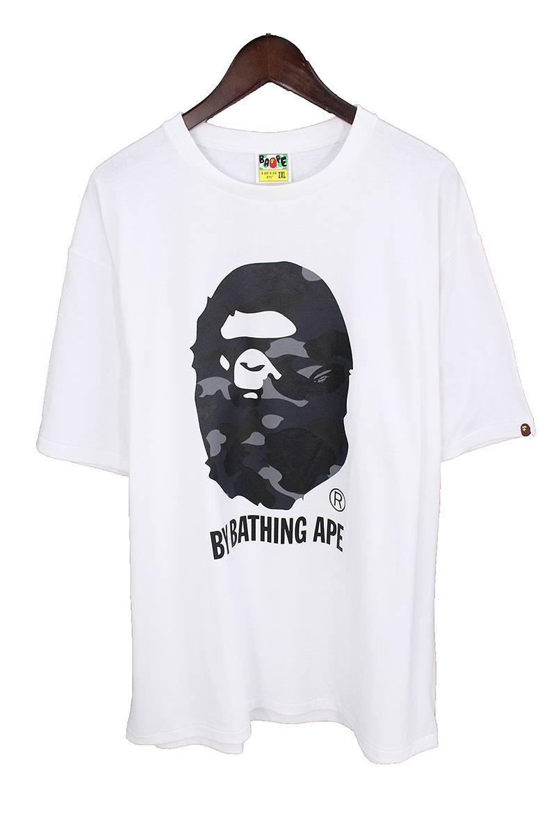 アベイシングエイプ/A BATHING APE 【18SS】【COLOR CAMO BY BATHING TEE】カラーカモバイベイシングTシャツ(XXL/ホワイト×ブラック)【OM10】【メンズ】【108081】【中古】bb76#rinkan*S
