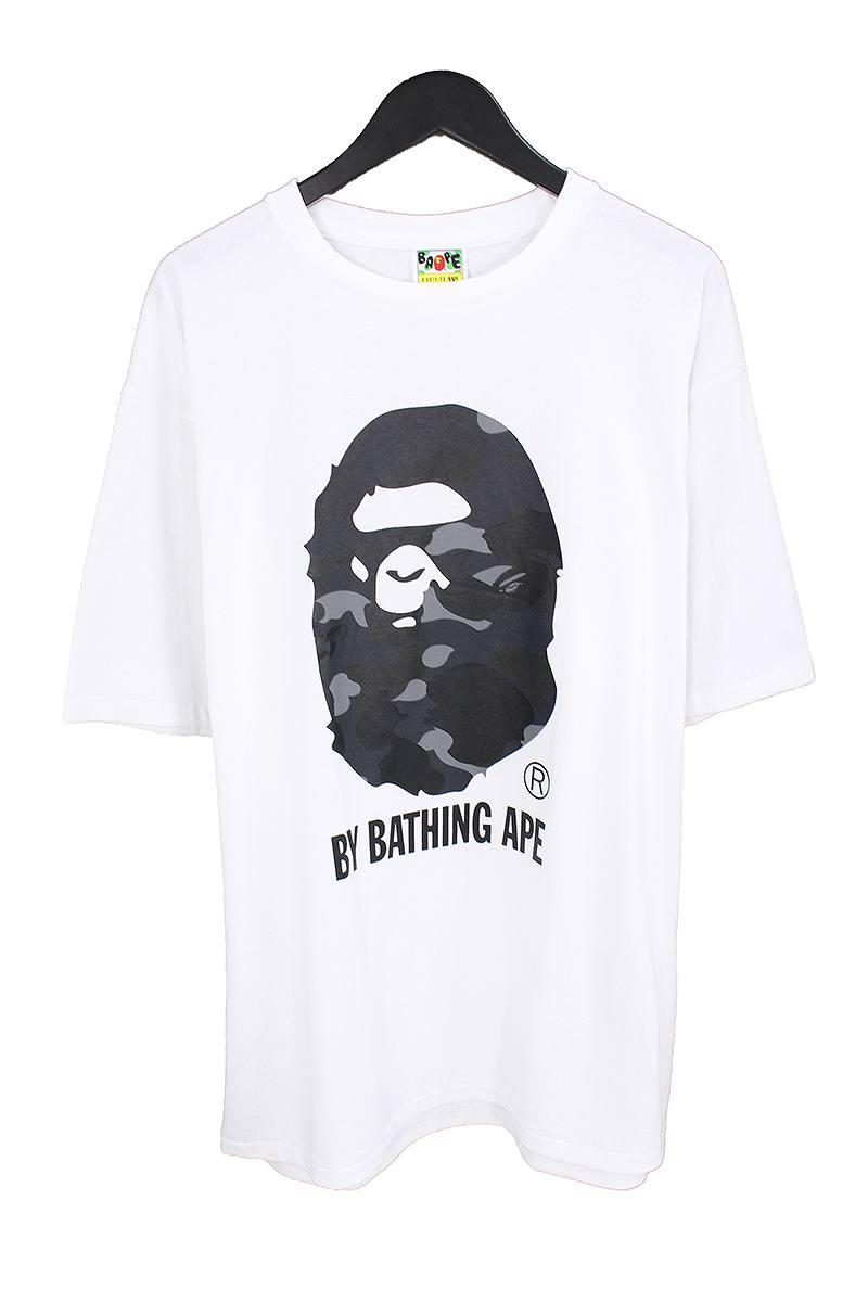 アベイシングエイプ/A BATHING APE 【18SS】【COLOR CAMO BY BATHING TEE】カラーカモバイベイシングTシャツ(XXL/ホワイト×ブラック)【OM10】【メンズ】【108081】【中古】【P】bb76#rinkan*S