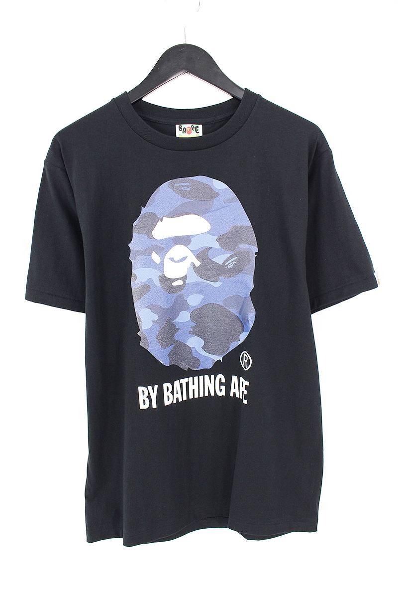 アベイシングエイプ/A BATHING APE 【18SS】【COLOR CAMO BY BATHING TEE】カラーカモバイベイシングTシャツ(M/ブラック×ネイビー)【OM10】【メンズ】【108081】【中古】【P】bb76#rinkan*S