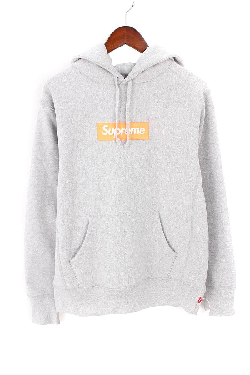 シュプリーム/SUPREME 【17AW】【Box Logo Hooded Sweatshirt】ボックスロゴプルオーバーパーカー(S/グレー)【OS06】【メンズ】【108081】【中古】bb62#rinkan*S
