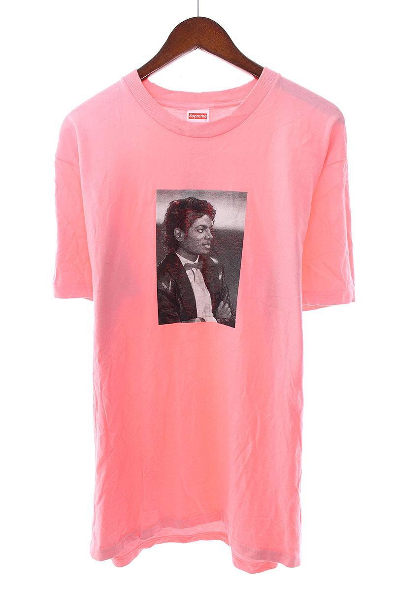 シュプリーム/SUPREME 【17SS】【Michael Jackson Tee】マイケルジャクソンプリントTシャツ(L/ピンク)【OM10】【メンズ】【608081】【中古】【P】bb14#rinkan*B