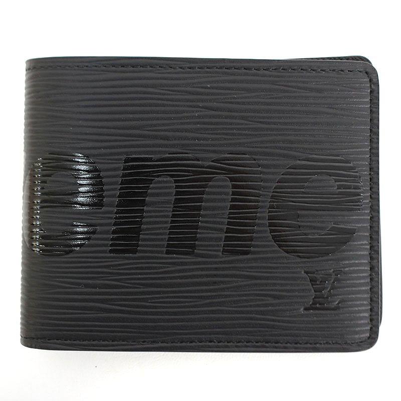 16c172b2184 シュプリーム /SUPREME X Louis Vuitton /LOUISVUITTON エピレザー wallet (black)  bb146#rinkan*A