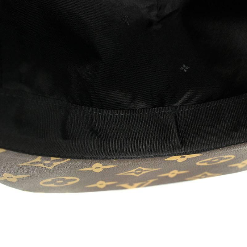 ee444437 ... シュプリーム /SUPREME X Louis Vuitton /LOUISVUITTON monogram leather cap hat  (Brown-like ...
