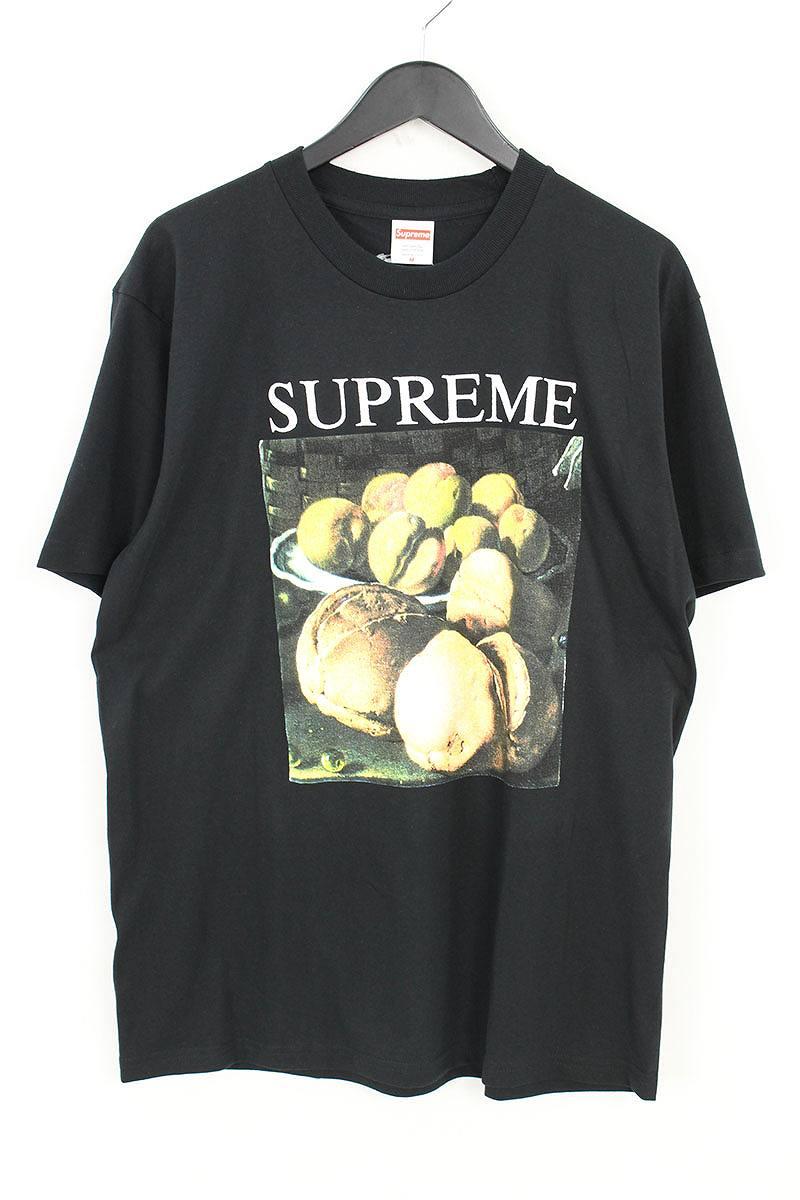 シュプリーム/SUPREME 【18AW】【Still Life Tee】フルーツプリントTシャツ(M/ブラック)【HJ12】【メンズ】【528081】【中古】bb168#rinkan*S