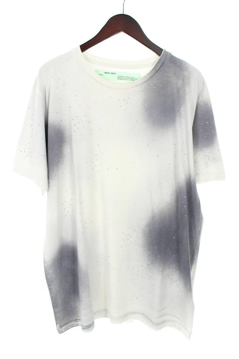 オフホワイト/OFF-WHITE 【18AW】【SPRAY S/S T-SHIRT】バックアロープリントオーバーサイズTシャツ(L/グレー×ホワイト)【FK04】【メンズ】【828081】【新古品】bb20#rinkan*N
