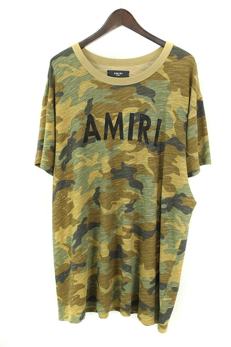 アミリ/AMIRI ショットガンダメージロゴプリントカモフラTシャツ(XL/ブラウン調×グリーン調)【SB01】【メンズ】【409081】【中古】【P】[5倍]bb14#rinkan*B