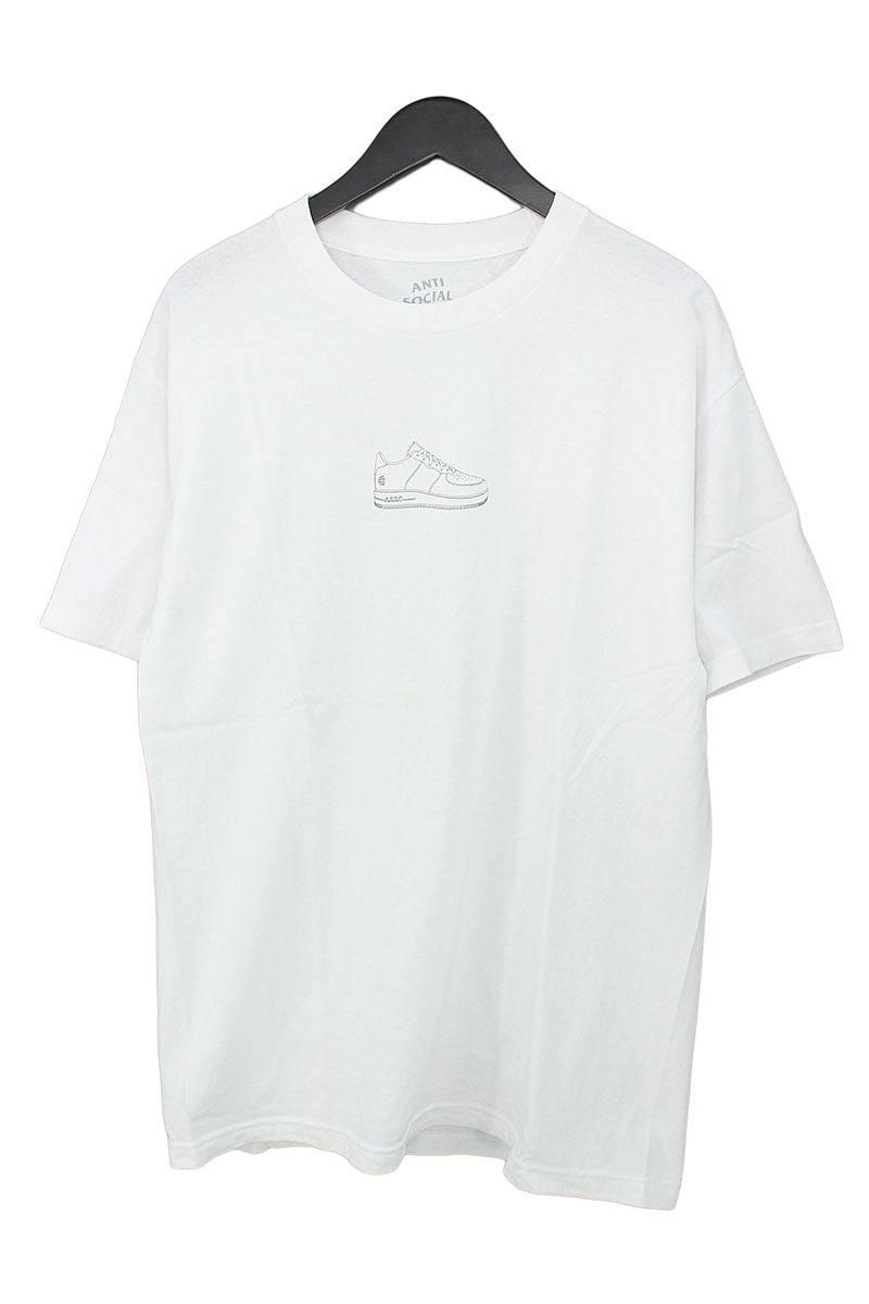 アンチソーシャルソーシャルクラブ/ANTI SOCIAL SOCIAL CLUB スニーカーロゴプリントTシャツ(L/ホワイト)【OM10】【メンズ】【609081】【中古】bb10#rinkan*B