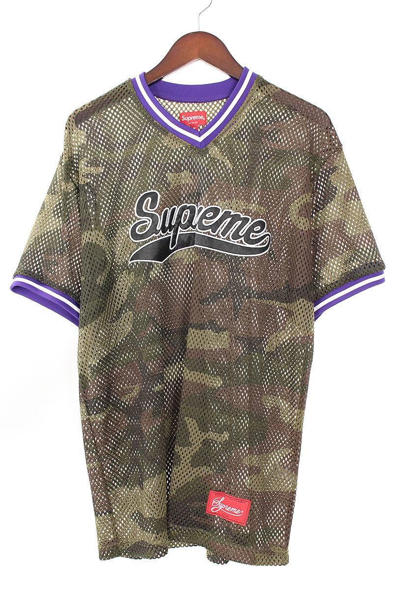 シュプリーム/SUPREME 【18SS】【Mesh Baseball Top】メッシュベースボールTシャツ(M/カーキ調)【SB01】【メンズ】【609081】【中古】【P】bb147#rinkan*B