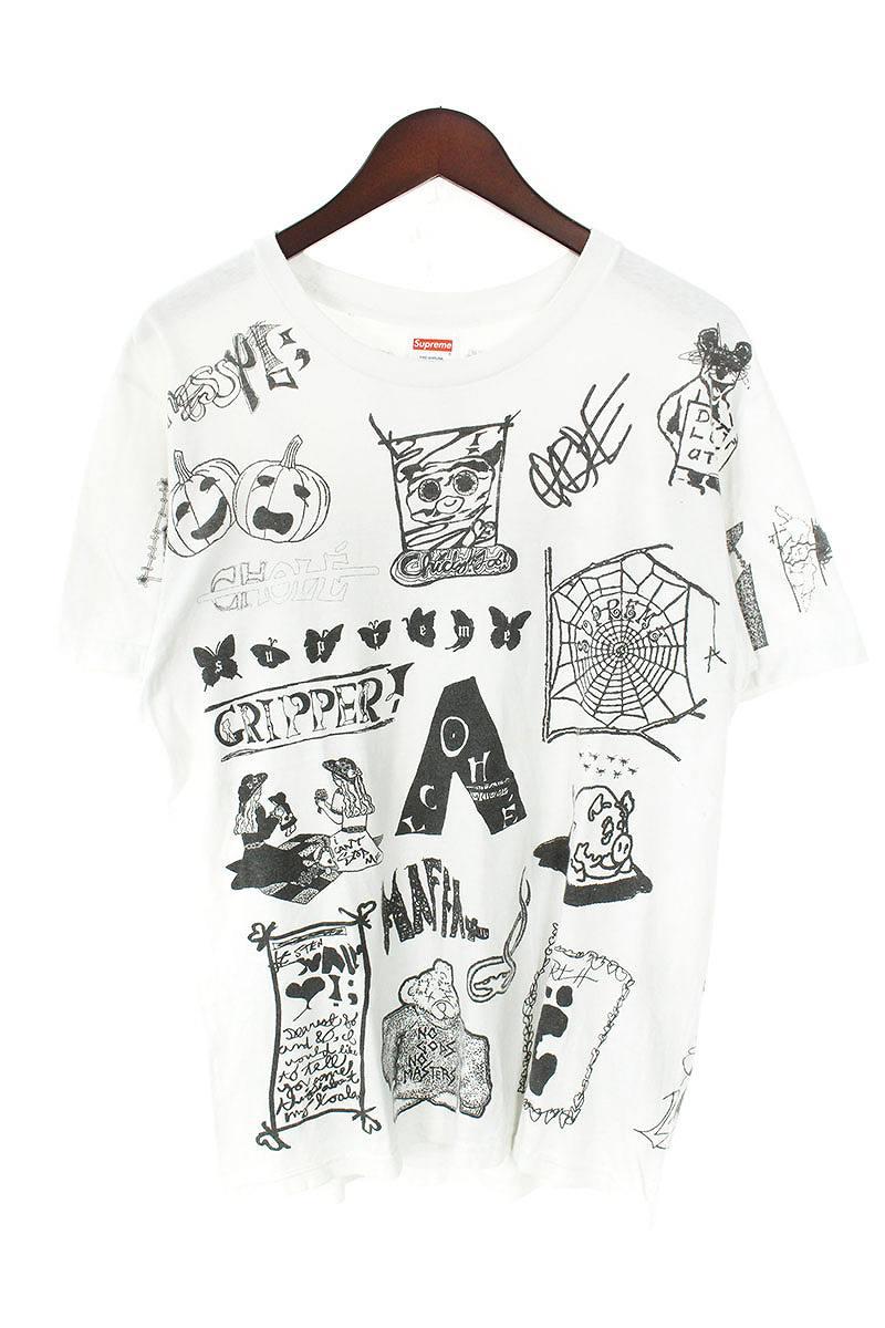シュプリーム/SUPREME 【17SS】【Dream Tee】総柄プリントTシャツ(M/ホワイト)【SB01】【メンズ】【609081】【中古】bb187#rinkan*B