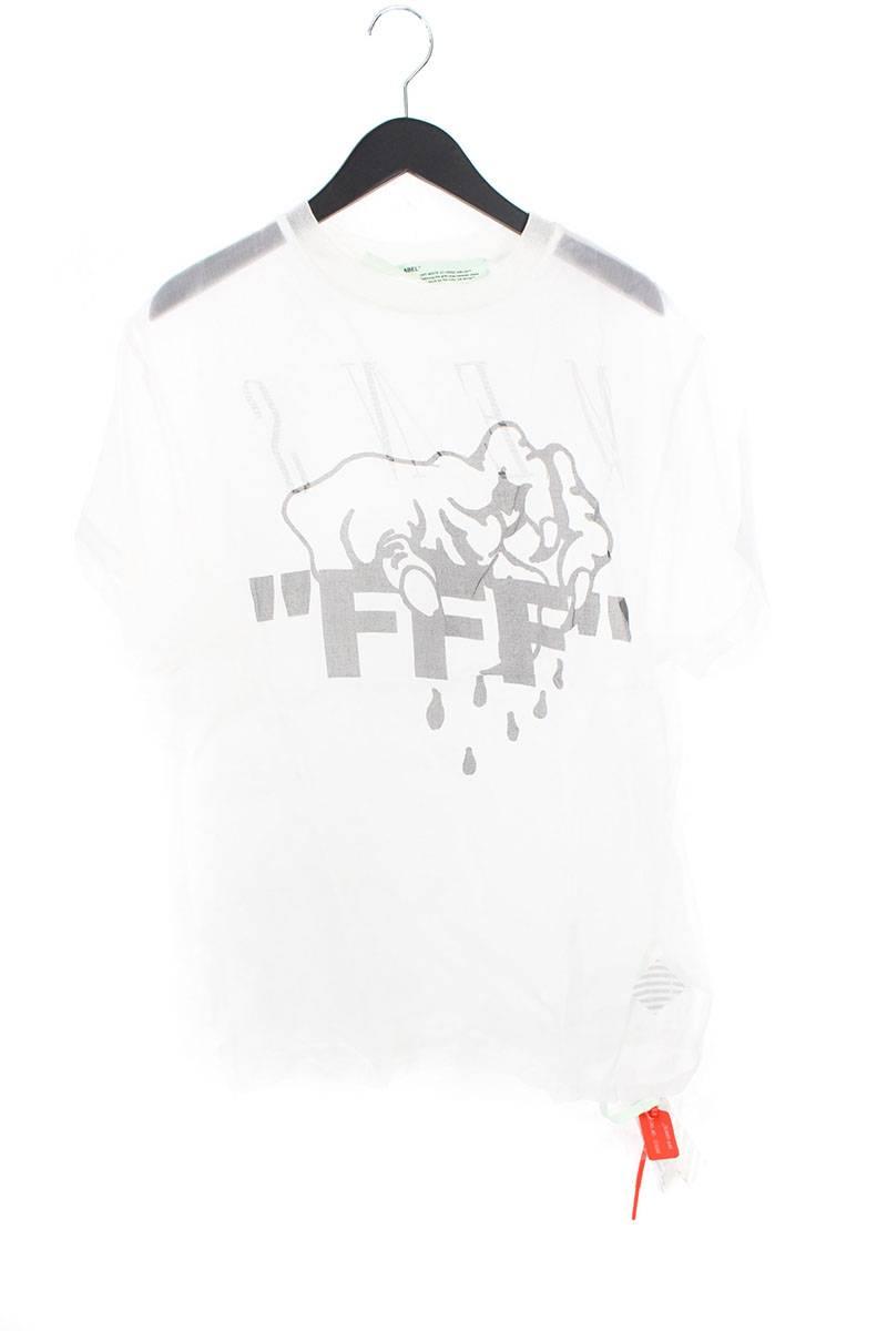 オフホワイト/OFF-WHITE 【17SS】【FFF ORGANZA TEE】シースルーFFFプリントTシャツ(M/ホワイト)【SB01】【メンズ】【809081】【中古】【P】[less]bb212#rinkan*B