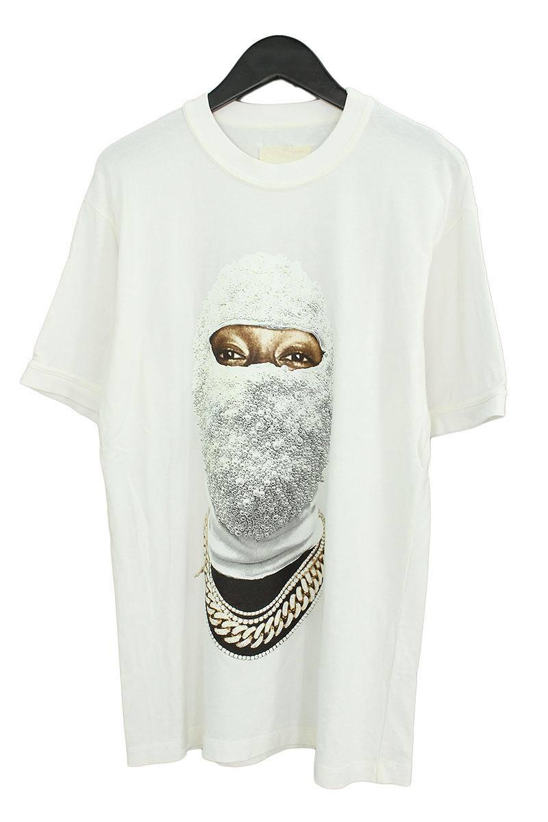 インノミネイト/IH NOM UH NIT 【18SS】【ORINTED FACE GOLD AT FRONT T-SHIRT】フェイスプリントオーバーサイズTシャツ(M/ホワイト)【HJ12】【メンズ】【119081】【中古】bb212#rinkan*C